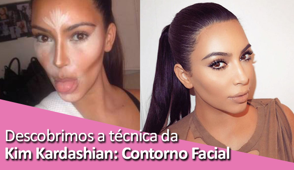 Descobrimos a técnica da Kim Kardashian Contorno Facial