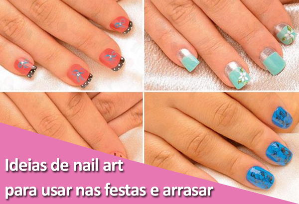 Unhas decoradas com nail art