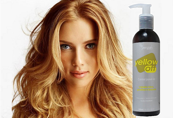 Scarlet Johansson com Yellow Creme Leave In