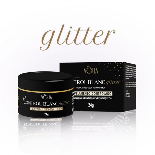 Gel Control Blanc Glitter Vòlia 24g