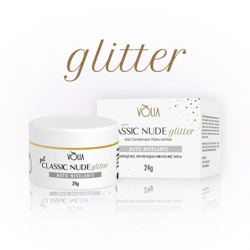 Gel Classic Nude Glitter Vòlia 24g